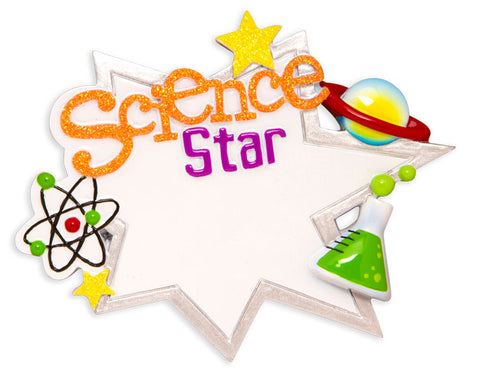 OR1580 - Science Star Personalized Christmas Ornament