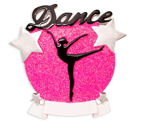 OR1581 - Dance Silhouette Personalized Christmas Ornament