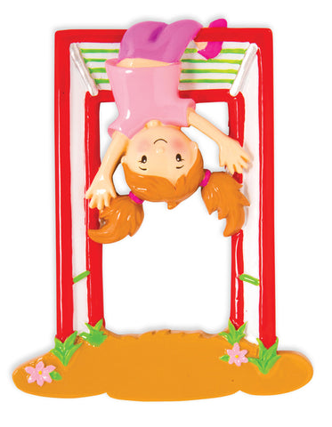 OR1582-G - Girl on Jungle Gym Personalized Christmas Ornament