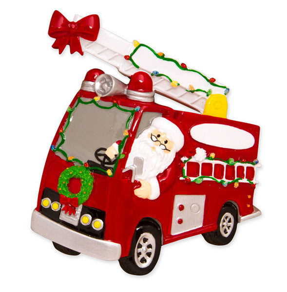 OR1583 - Christmas Parade Fire Truck Personalized Christmas Ornament