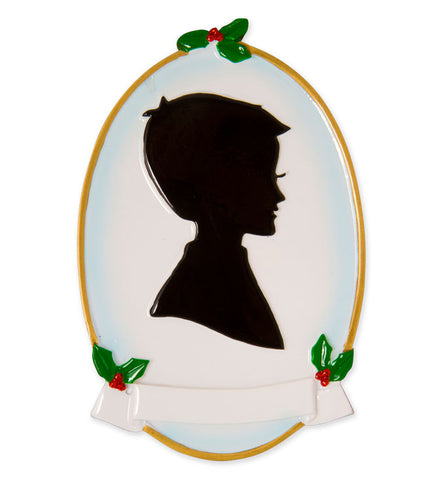 OR1587-BOY - Boy Silhouette Personalized Christmas Ornament