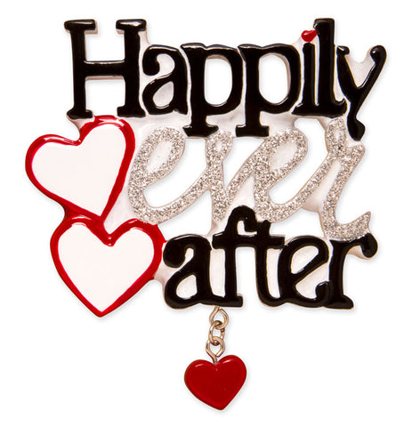 OR1590 - Happily Ever After Personalized Christmas Ornament