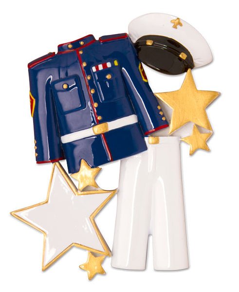 OR1597 - Marine Uniform Personalized Christmas Ornament