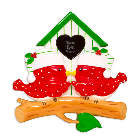 OR1609-2 - Bird Couple Personalized Christmas Ornament