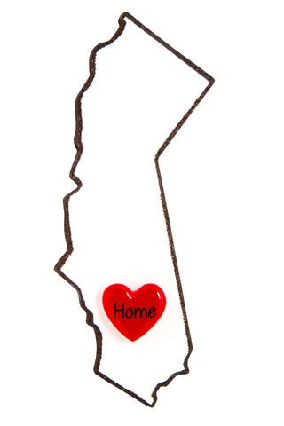 OR1615-CA - California Personalized Christmas Ornament