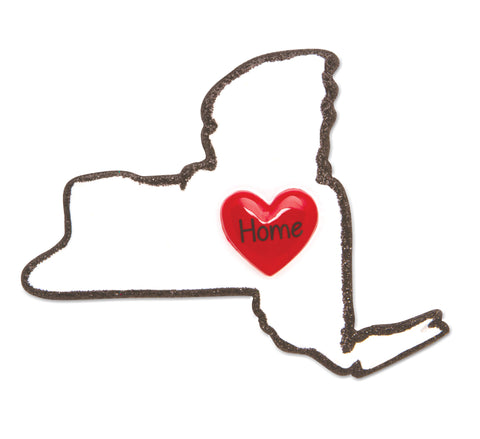 OR1615-NY - New York Personalized Christmas Ornament