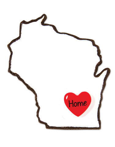 OR1615-WI - Wisconsin Personalized Christmas Ornament
