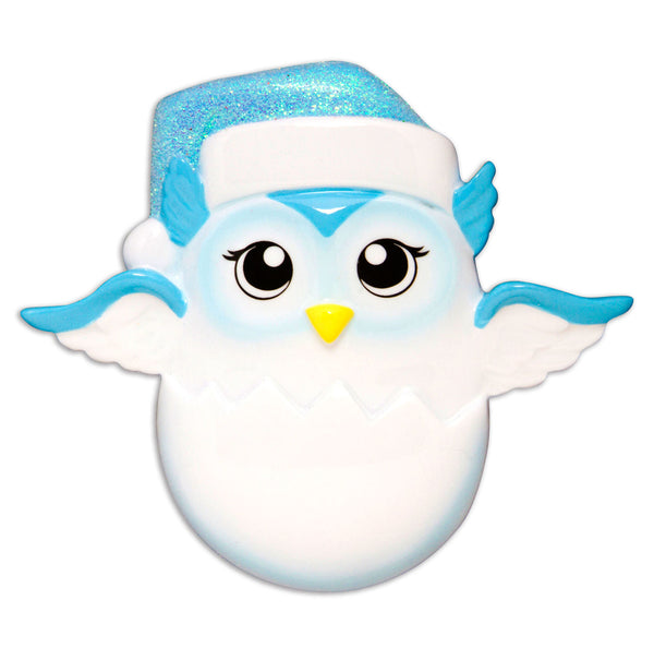 OR1626-B - Baby Chick (Blue) Personalized Christmas Ornament