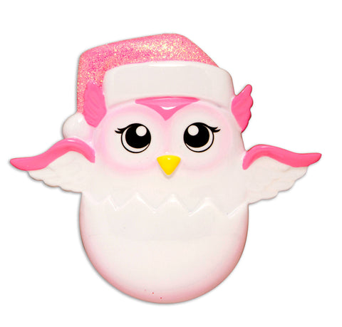 OR1626-P - Baby Chick (Pink) Personalized Christmas Ornament