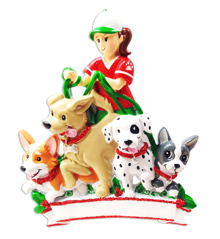 OR1628 - Dog Walker Personalized Christmas Ornament