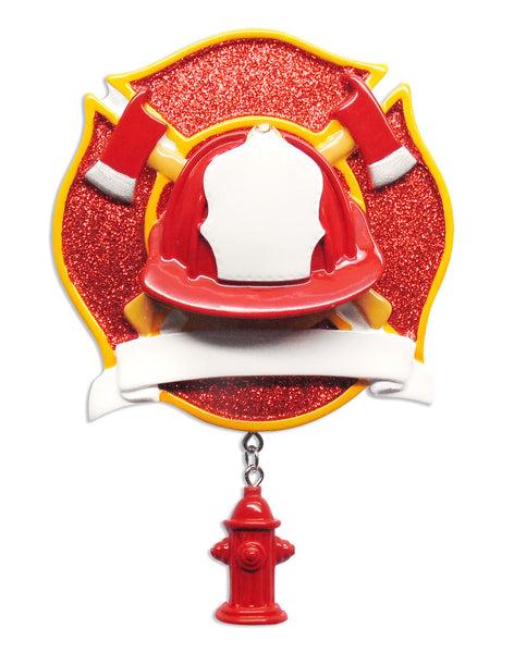 OR1629 - Fireman Personalized Christmas Ornament