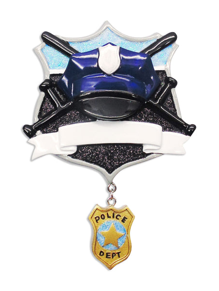 OR1630 - Policeman Personalized Christmas Ornament