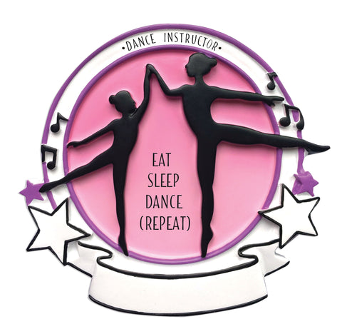 OR1636 - Dance Instructor Personalized Christmas Ornament