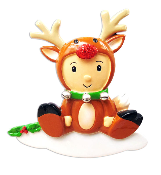 OR1638-B - Reindeer Baby Personalized Christmas Ornament