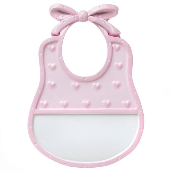 OR1651-P - Bib (Pink) Personalized Christmas Ornament