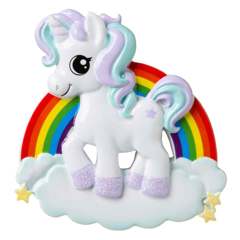 OR1652 - Unicorn Personalized Christmas Ornament