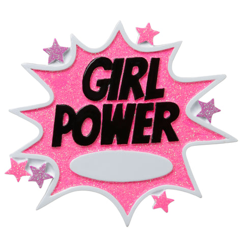 OR1656 - Girl Power Personalized Christmas Ornament