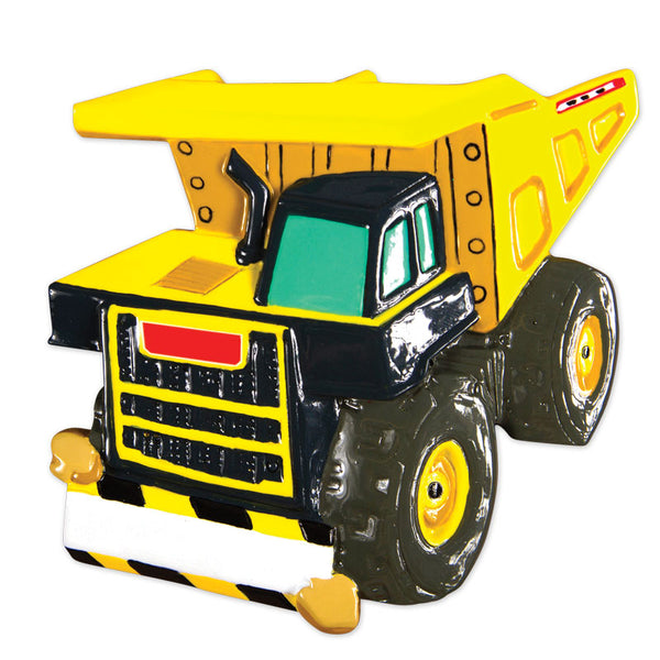 OR1658 - Dump Truck Personalized Christmas Ornament