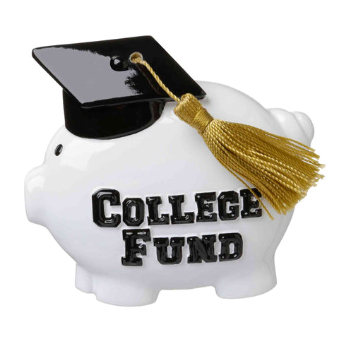 OR1660 - College Fund Piggy Bank Personalized Christmas Ornament