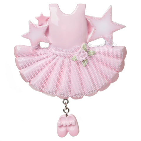 OR1661 - Ballerina Outfit Personalized Christmas Ornament
