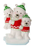 OR1674-2 - Single Dad with 2 Children Personalized Christmas Ornament