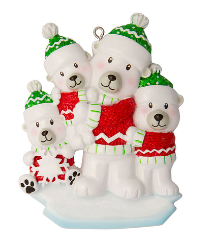 OR1674-3 - Single Dad with 3 Children Personalized Christmas Ornament
