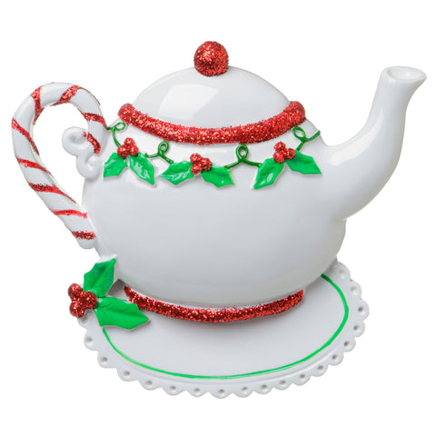 OR1681 - Christmas Teapot Personalized Christmas Ornament