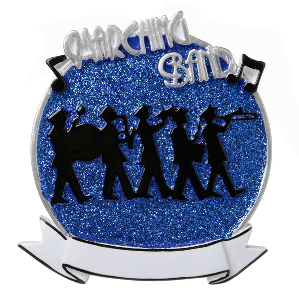 OR1689-B - Marching Band (Blue) Personalized Christmas Ornament