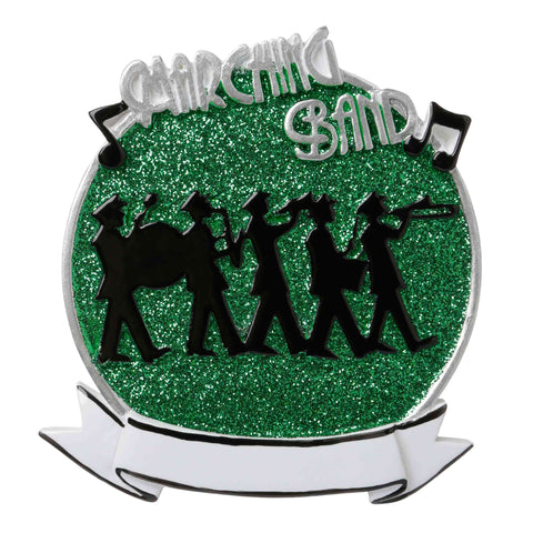 OR1689-G - Marching Band (Green) Personalized Christmas Ornament