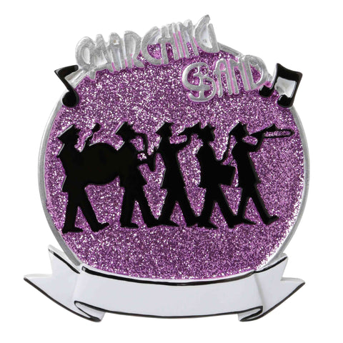 OR1689-P - Marching Band (Purple) Personalized Christmas Ornament