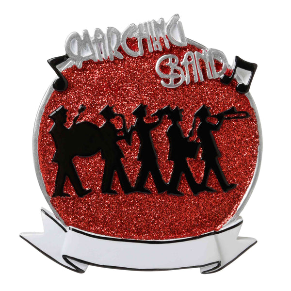 OR1689-R - Marching Band (Red) Personalized Christmas Ornament
