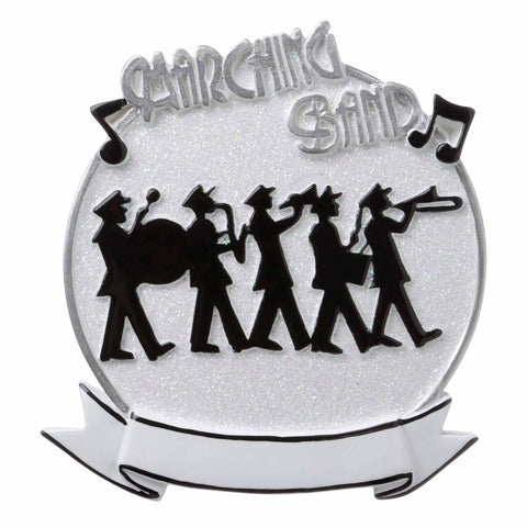 OR1689-WH - Marching Band (White) Personalized Christmas Ornament