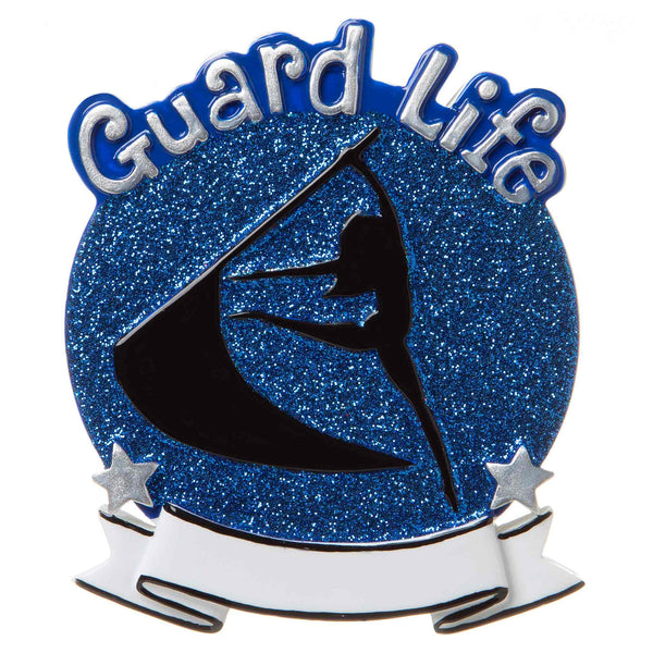 OR1690-B - Color Guard (Blue) Personalized Christmas Ornament