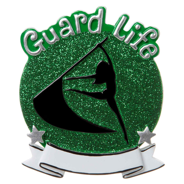 OR1690-G - Color Guard (Green) Personalized Christmas Ornament
