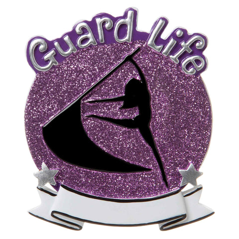 OR1690-P - Color Guard (Purple) Personalized Christmas Ornament