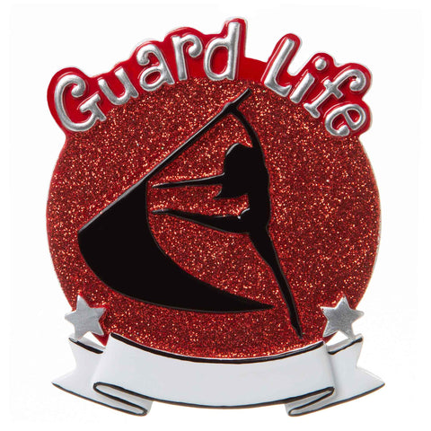 OR1690-R - Color Guard (Red) Personalized Christmas Ornament