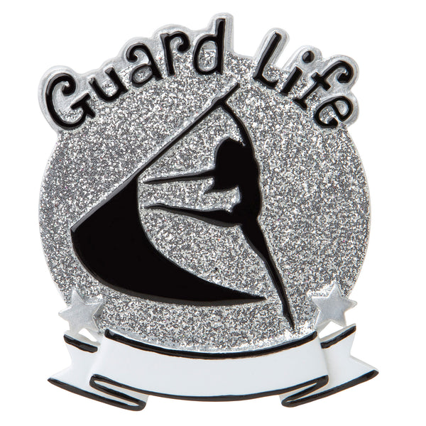 OR1690-SI - Color Guard (Silver) Personalized Christmas Ornament