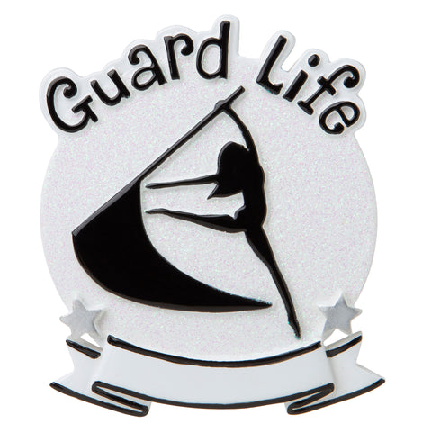 OR1690-WH - Color Guard (White) Personalized Christmas Ornament