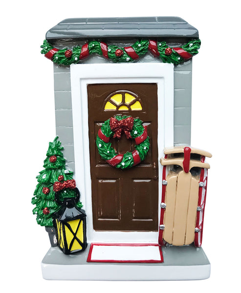 OR1697 - Christmas Door Personalized Christmas Ornament