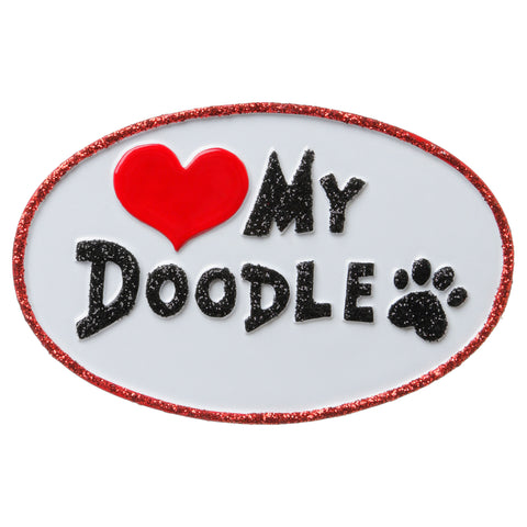 OR1707 - Love My Doodle Personalized Christmas Ornament