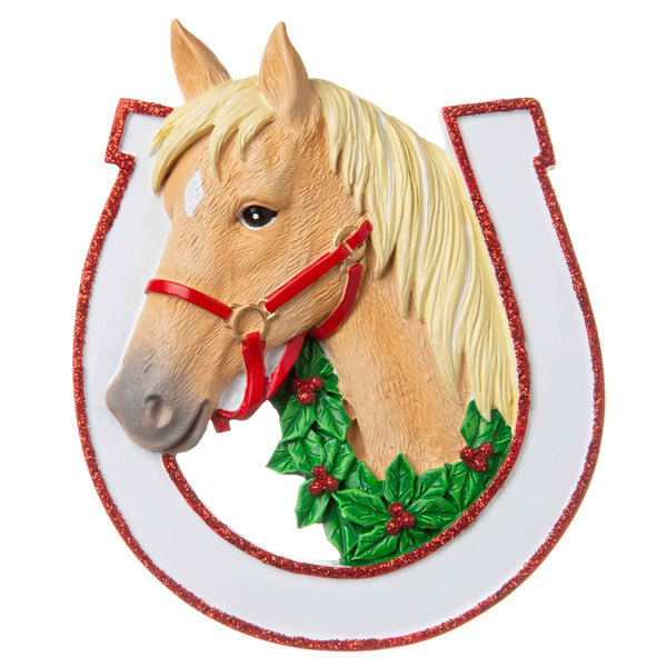 OR1708-A - Horse (Assorted) Personalized Christmas Ornament