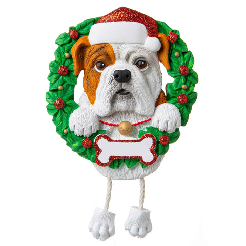 OR1712-BD - Bulldog (Pure Breed) Personalized Christmas Ornament