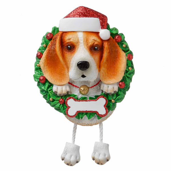 OR1712-BE - Beagle (Pure Breed) Personalized Christmas Ornament