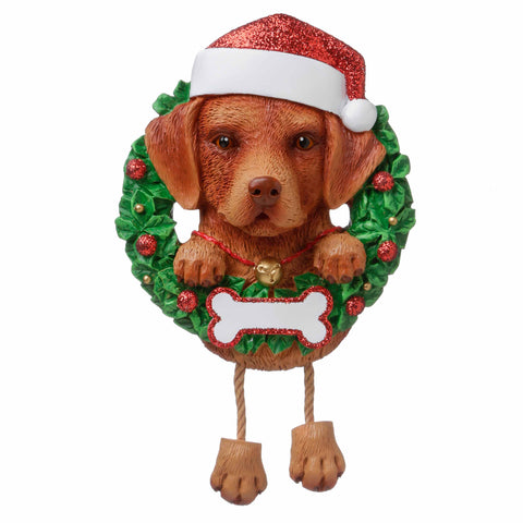 OR1712-CL - Chocolate Lab (Pure Breed) Personalized Christmas Ornament