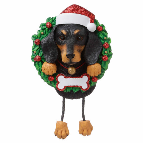 OR1712-DA - Dachshund (Pure Breed) Personalized Christmas Ornament