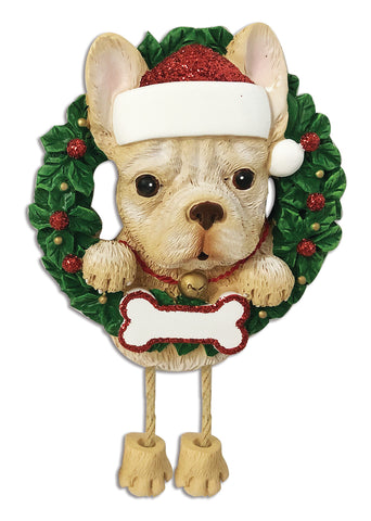 OR1712-FB - French Bulldog (Pure Breed) Personalized Christmas Ornament