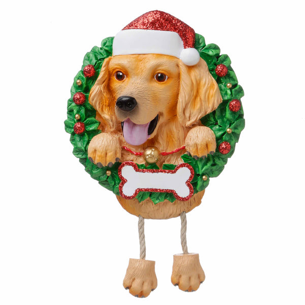 OR1712-GR - Golden Retriever (Pure Breed) Personalized Christmas Ornament
