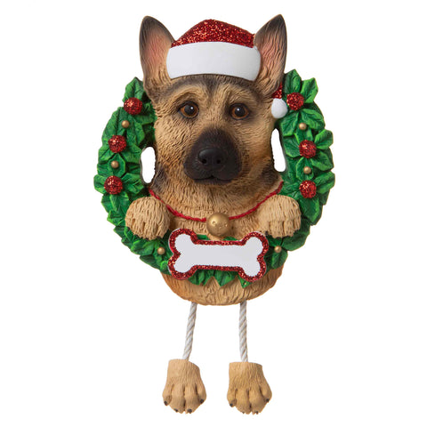OR1712-GS - German Shepherd (Pure Breed) Personalized Christmas Ornament