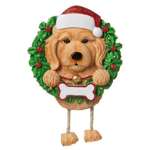 OR1712-LD/BR - Labradoodle (Pure Breed) Personalized Christmas Ornament