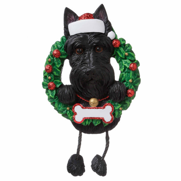 OR1712-SC - Scottie (Pure Breed) Personalized Christmas Ornament